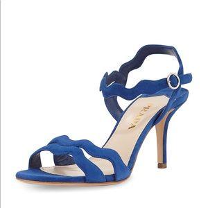 PRADA Wavy Strap Suede Sandals
